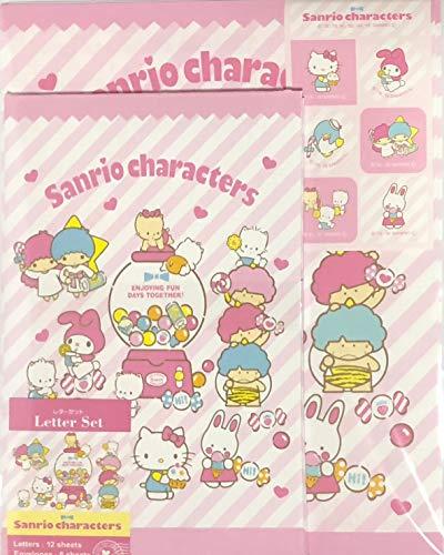 Set Bagno Hello Kitty.Sanrio Characters Hello Kitty My Melody Little Twin Stars Cheery Chums Nya Ni Nyu Nye Nyon Goropicadon Tuxedosam Letter Set 12 Writing Paper 6