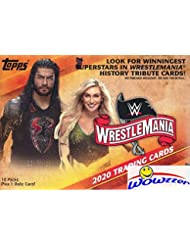2020 Topps WWE Road to Wrestlemania EXCLUSIVE Factory Sealed Retail Box with RELIC Card! Look for Cards & Autos of WWE Superstars including Roman Reigns, Kurt Angle, Rondo Rousey & Many More! WOWZZER!
