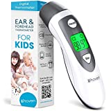 Ear Thermometer with Forehead Function - Fever Thermometer for Kids - Temporal Thermometer - Digital Thermometer Medical - Approved Infant and Kids Thermometer - iProven DMT-489WG