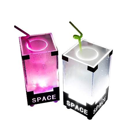Cubo De Hielo LED Cambio De Color LED Cubo De Hielo Nevera LED ...
