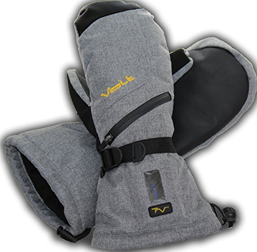 Heated Mittens by Volt - Rechargeable battery powered heated mittens will keep your hands warm. (Large) (Battery Heated Mittens)