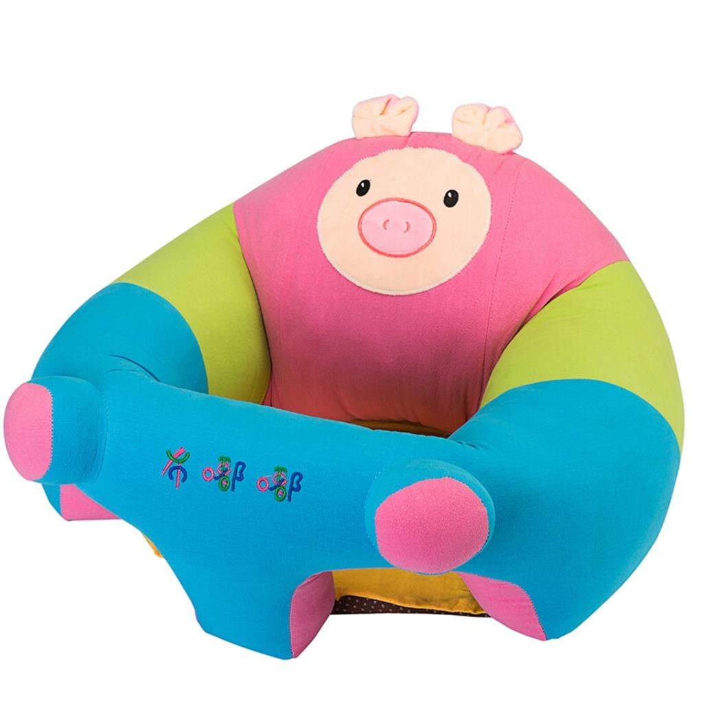 ALUS- Baby Learning Sofa Seat Stool Child Backrest Food Supplement Dining Chair Safety Rollover XL Pig Shape Child Birthday Gift (Color : Pig, Size : Extra Large)