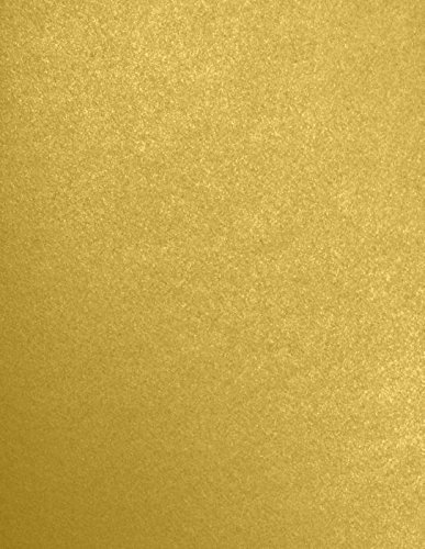 8 1/2 x 11 Paper - Aurum Metallic - Sirio Pearl (50 Qty.) | Perfect for Crafting, Invitations, Scrapbooking and so much more! | 81211-P-205-50
