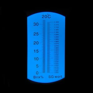 RCYAGO Refractometer Brix 0-32 with ATC 1.000-1.120 for Beer Wort SG Specific Gravity Handheld Refractometer Sugar Beer Content