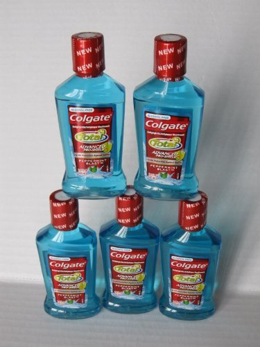 Colgate Totoal Advanced Prosheild Mouthwash Peppermint Blast (5 Travel Size 2oz Bottles-total of 10oz) by Colgate-Palmolive Company (Image #1)