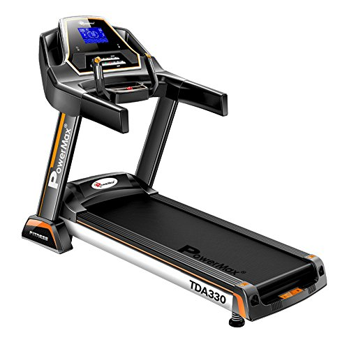 Powermax Fitness TDA-330 (3.0 HP) Motorized Treadmill with Auto Incline for Daily Workout