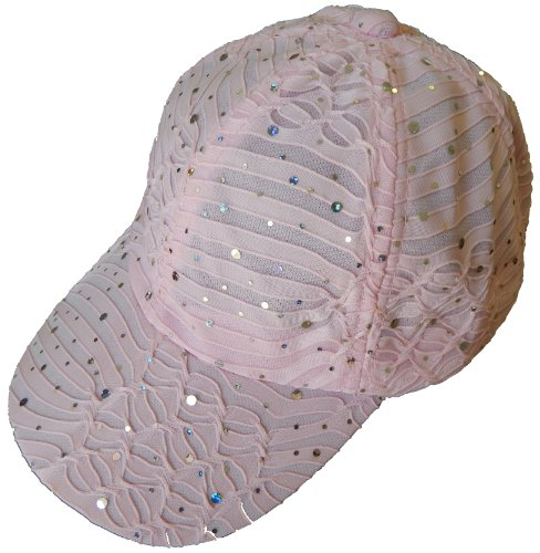 Sparkle Baseball Caps (Pink) (Blue Green Sparkle)