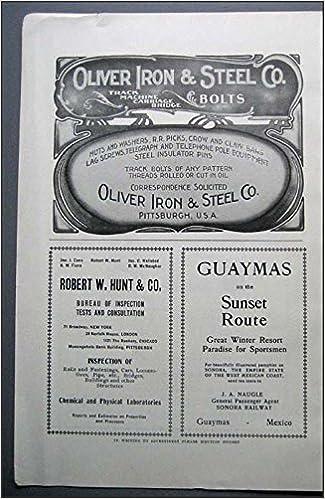 1903 Original Art Deco Vintage AD Oliver Iron & Steel