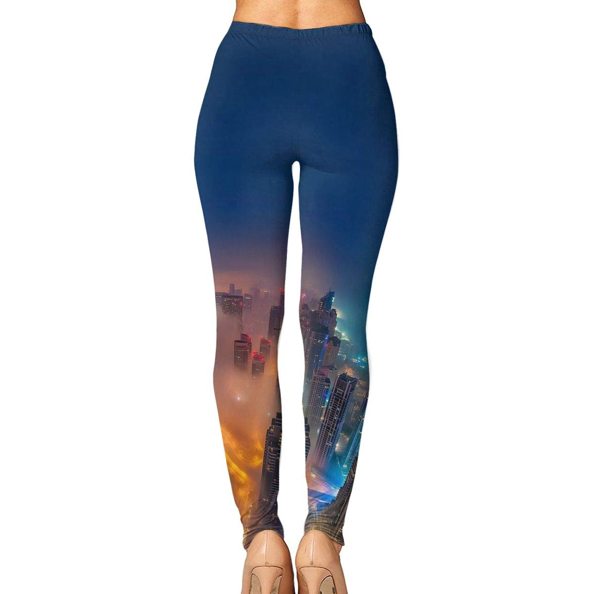 17e29ee1 Amazon.com: City Night Scene Printing Compression Leggings Pants Tights for  Women S-XL: Clothing