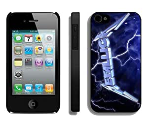 Popular And Durable Custom Designed Case For iPhone 4 With Metallica Black Phone Case