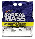 GAT Radical Mass, Top Weight Gainer For Building Size & Strength Faster, Premium Muscle Builder with milkshake flavor, Chocolate Milkshake, 10 Pounds