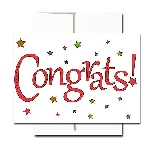 Congratulations Cards: Starry Congrats - Box of 30 Blank Note Cards and 32 Envelopes