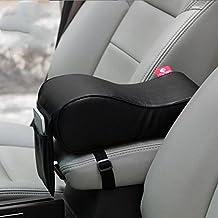 Kingru Breathable Soft Memory Foam Universal Auto Seat Cushion Car Armrest Cushions Center Consoles Pad -Black