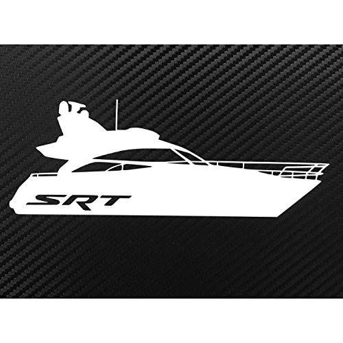 (SRT Boat LOL Funny Decal Sticker Custom Die-Cut Vinyl Turbo Lowered Hella Drift Illest Import)