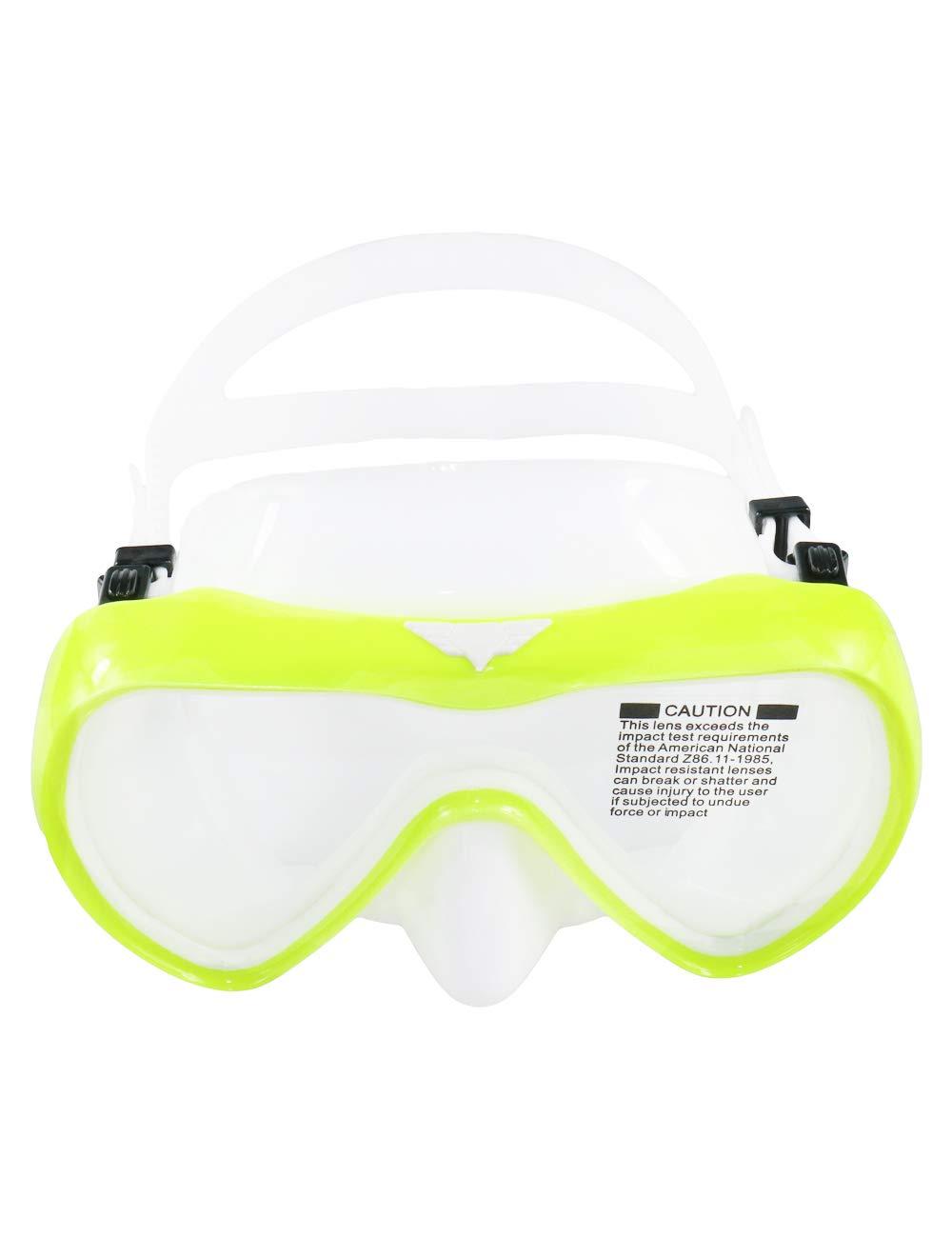 c4be4c62195 Snorkel Mask Scuba Dive Mask Glasses Snorkeling Gear Silicone Diving Goggles  Kit Impact Resistance Anti-leak ...