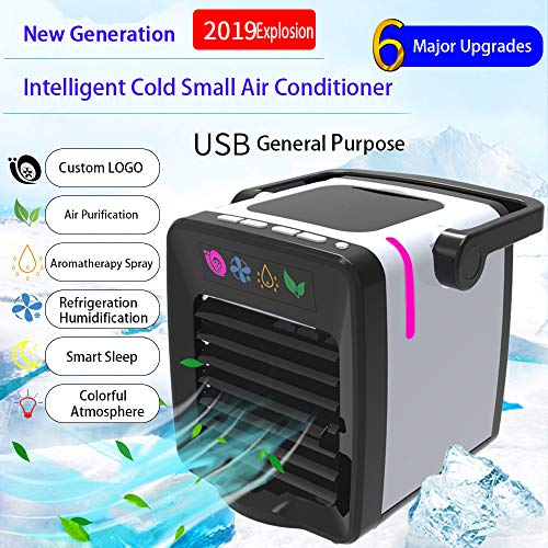 Euone Small Appliances, New USB Charging Mini Portable Air Conditioning Fan Home Refrigerator Cooler