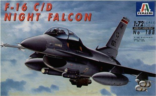 Italeri 0188 - F-16 C/D Night Falcon Model Kit Scala 1:72 510000188
