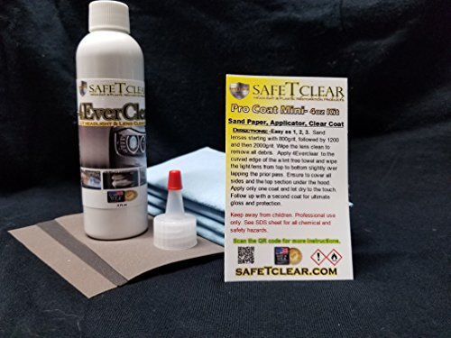 Pro Coat Mini 4oz kit (completes up to 8 sets of lenses) Comes with 4 applicators, sand paper, and applicator tip. ** 2 Year Limited Warranty **