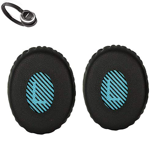 SoundLink Earpads Replacement Ear pad Cushions Kit Compatible with Bose OE2 OE2i Soundtrue/SoundLink On-Ear Headset Over-Ear Headphones (Black Blue) (Soundlink Around Ear Bluetooth Headphones Ear Cushion Kit)