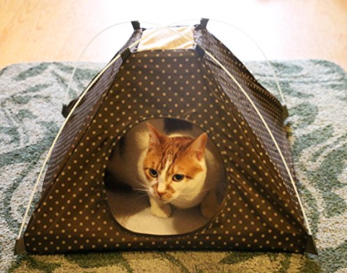Comfy Popup Pet Tent ... & Comfy Popup Pet Tent u2013 Indoor u0026 Outdoor Dog Bed u2013 Cat Tent Bed w ...
