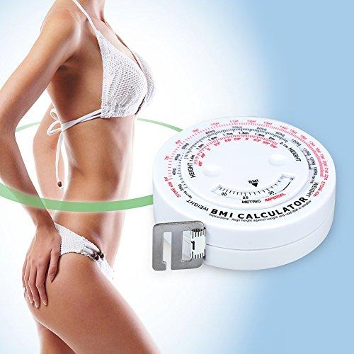 rundes einziehbares Ma/ßband f/ür die K/örperfitness Beauty Body Mass Index Fettmessband Personal Trainer und Ern/ährungsberater empfohlen von einem Arzt