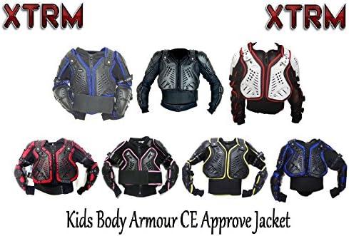 XTRM EDGE MX MOTOCROSS KIDS BODY ARMOUR Motorcycle Child BMX Quad Off Road ATV Sports CE Approve Full Body Deflector BLACK//PINK