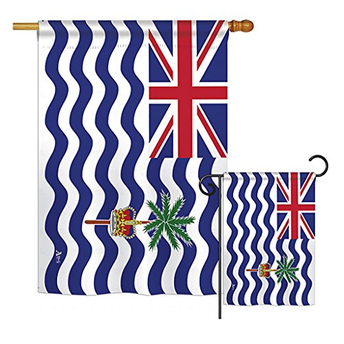 British Indian Ocean Territory - Nationality Flags of the World Vertical Impressions Decorative Flags Printed In USA House & Garden Flags matching Set