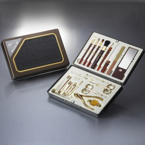 World No. 1, Three Seven 777 Travel Manicure Pedicure Grooming Kit Set - Nail Clipper (Total 18 Pcs, Model: TS-6000BG), Lifetime Warranty - Made in Korea, Since 1975 (Kit Total Grooming)