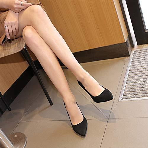 Musta Odetina Teräväkärkiset Toe Tyylikäs Elegantti Korkokengät Kengät Mekko Naisten Pumput azaxwf