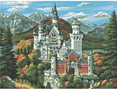 Schipper 9210 372 Malen Nach Zahlen Schloss Neuschwanstein 30x40 Cm Amazon De Spielzeug