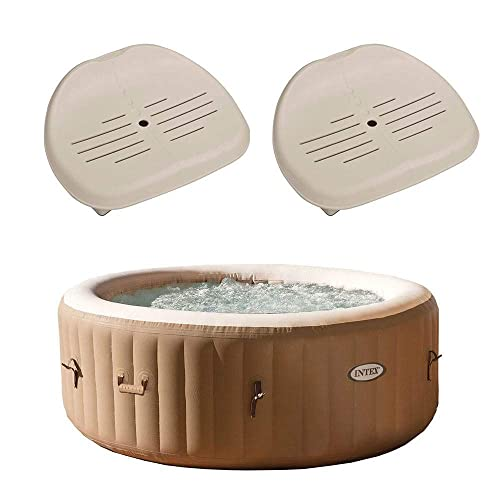 Intex PureSpa 4 Person Inflatable Hot Tub Spa Slip-Resistant Seats 2 Pack