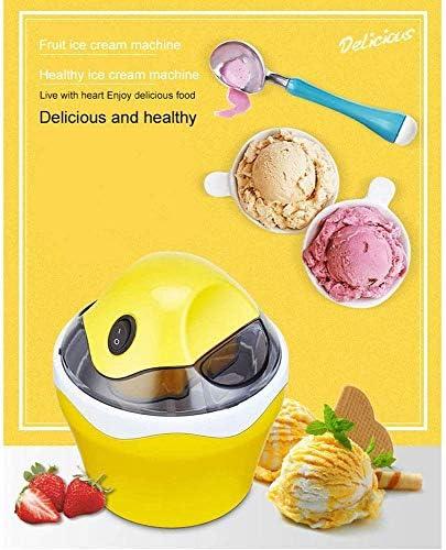Draagbare fruitijsmachine, automatische koelfunctie, gemakkelijk te wassen en te reinigen, voor kinderen bevroren fruit, geel