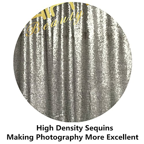 2FTx7FT-Sequin Backdrop-Grey Sequin Backdrops Curtain Sequin Backdrop Photography Sparkly Backdrop Photo Booth Curtain For Your House Decoration