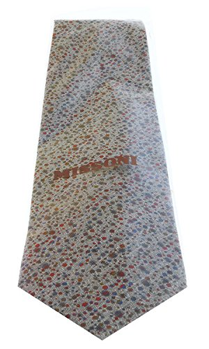Missoni U0901 Gray//Red Pin Dot 100/% Silk Tie for mens