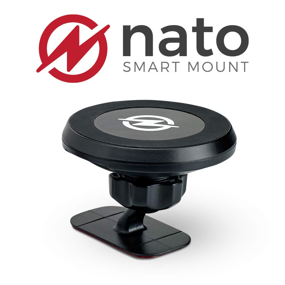 Nato Smart Mount - Magnetic Smart Device Holder Universal Adhesive 10W Wireless Charger by Nato Smart Mount