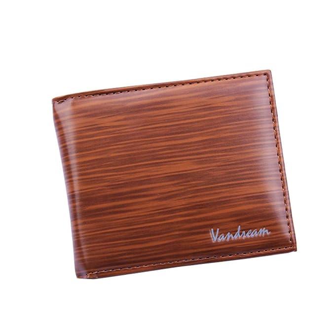 Amazon.com: Billetera de cuero para hombre con billetera de ...