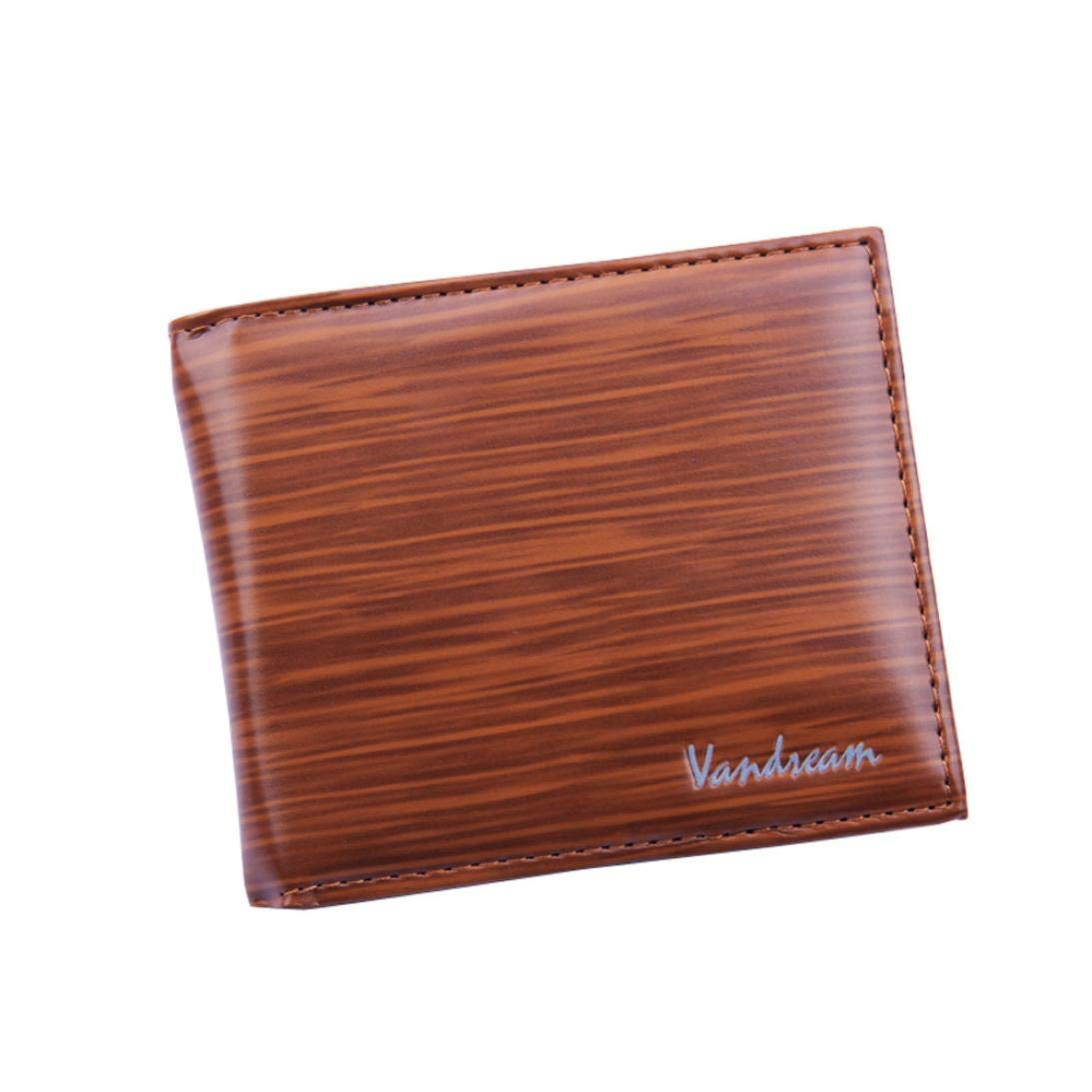 Leather Men's Short Wallet Fashion Bifold Mens Casual Wallet Solid Wallets With Pocket Coin Wallets