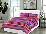 Bombay Dyeing Olivia Cotton Single Bedsheet With 1 Pillow Cover-Pink