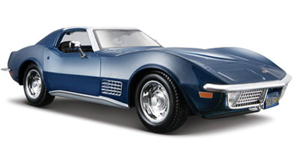 Maisto 1970 Chevy Corvette T-Top 1/24 Scale Diecast Model Car Blue StarSun Depot