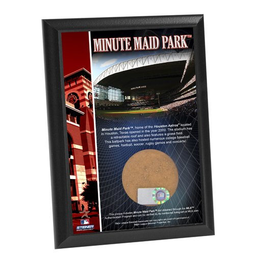 - MLB Houston Astros Minute Maid Field 4x6-Inch Game Used Dirt Plaque Photomint