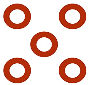 Sterling Seal CRG7237.2500.062.150X5 7237 Red Rubber Ring Gasket, 2.88