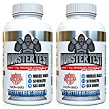Angry Supplements Monster Test Testosterone Booster-5452 mg Tribulus, Cranks T-Levels Naturally Formulated In the USA to Gain Muscle Mass, Boost Energy in the Gym, Last Longer in the Bedroom. (2-Pack)