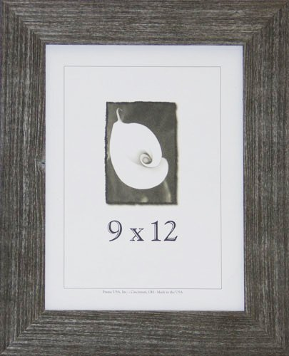 9x12 Farmhouse Barnwood Picture Frame w/Real Glass (Charcoal)