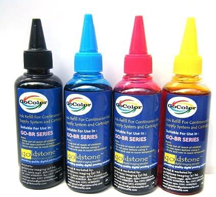 Gocolor Korean Quality Brother Compatible Inkjet Ink 100 ml x 4 Colours  Dye Ink  Best