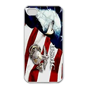 Hot United States Marine Corps flag Protect Custom Cover Case for iPhone 4,4S MZR-38731