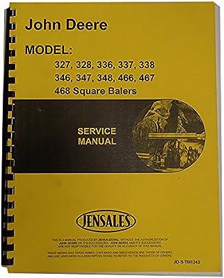 New Service Manual for John Deere Square Baler 348
