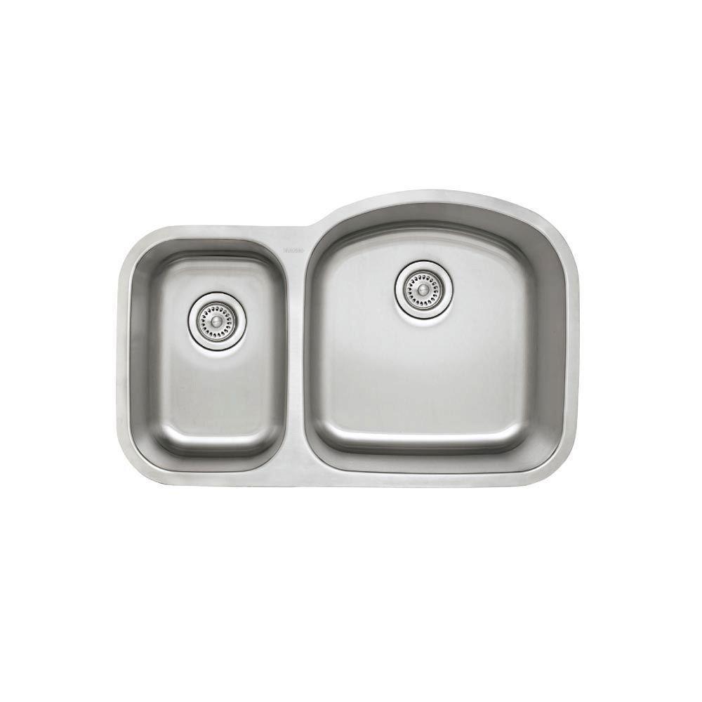 Blanco 441262 Stellar 1.6 Bowl Reverse Kitchen Sink, Stainless Steel, 31.75 x 20.50 x 9.00 inches,