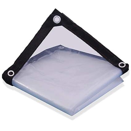 GGYMEI Telo Impermeabile Esterno Protezione,Solare Esterna Trasparente Resistente allAcqua Facile da Piegare Materiale in Polietilene A Fori Metallici Color : Clear, Size : 1x2m