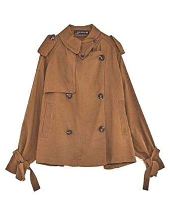5dfb52f5 Amazon.com: Zara Women Short Flowing Trench Coat Toffee Brown Small:  Clothing