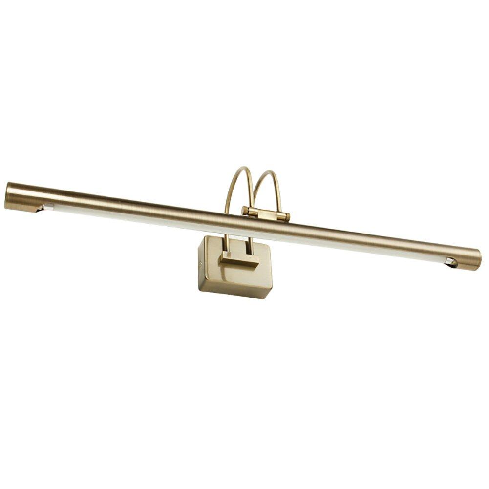 badezimmerlampe Spiegel-vorderes helles Badezimmer-Spiegel-Kabinett-Lichter Retro- Schminktisch-Lampen-gemäßte Lichter wasserdichte Eitelkeit-Ruhm (Farbe   Bronze-50  14  13CM)